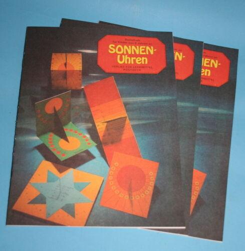 3 Sonnenuhren Bastelbogen Hefte original DDR , sehr lehrreich!