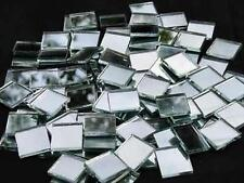 100  Pack.  20 x 20mm  3mm Thick Glass Silver Mosaic Mirror Tiles