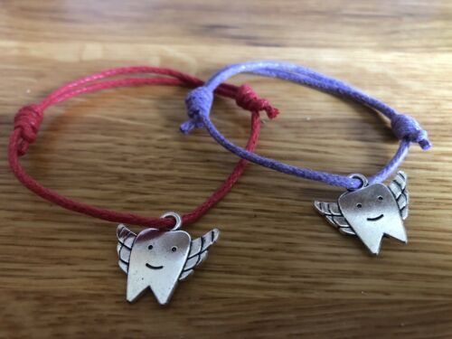 handmade Tooth Fairy Adjustable Bracelet or Bookmark Ideal gift Tooth charm