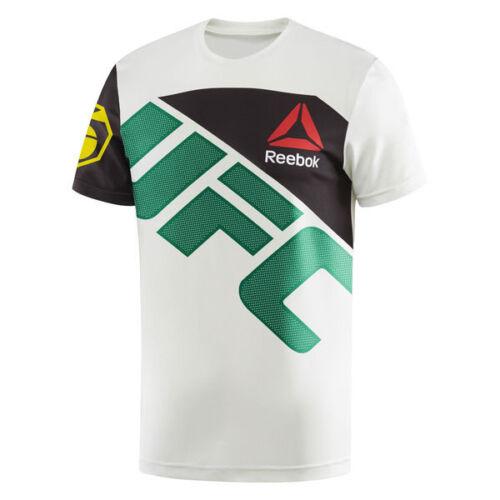 Reebok UFC Jersey Jose Aldo Men/'s Athletic T-shirt blanc//vert ai0424