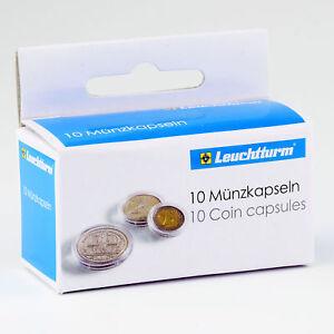Leuchtturm Münzkapseln 10 Glasklare Kapseln Für Münzen Größe