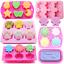 Silicone-Soap-Mold-Candy-Chocolat-Cookies-Cuisson-Moule-Bac-a-Glacons-Gateau-Decor miniature 2