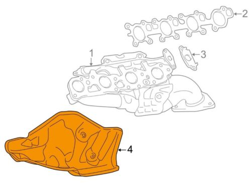 For Toyota Genuine Exhaust Manifold Heat Shield Left 171680S010