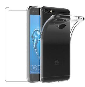 pour-Huawei-Honor-Y6-pro-2017-Coque-gel-TRANSPARENT-1-verre-trempe