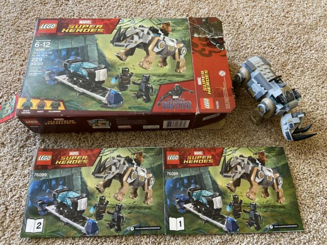 Ages 6-12 LEGO 76099 Marvel Rhino Face-Off by the Mine 229-piece Building Kit