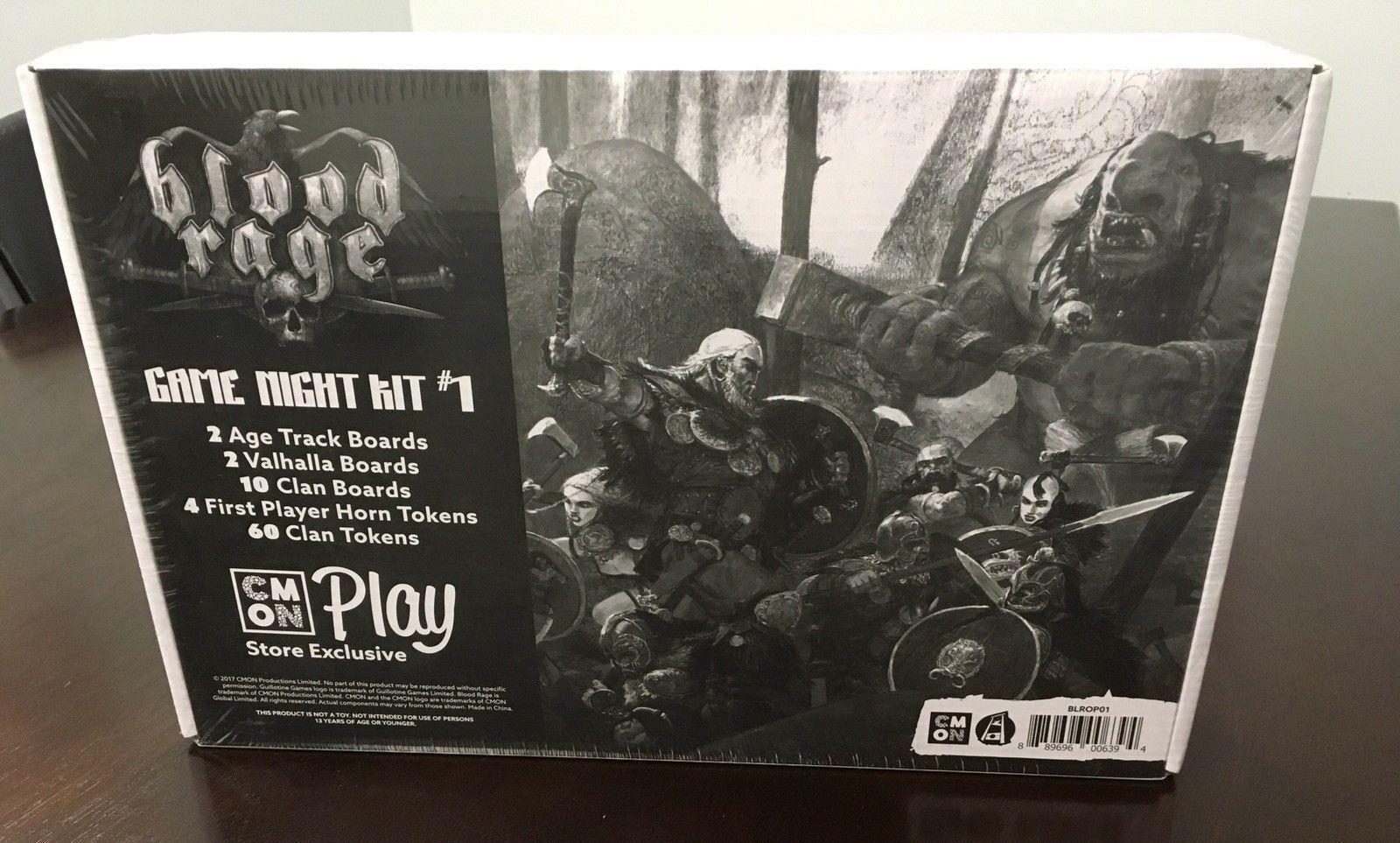 Blood Rage Game Night Kit Event Promo OP CMON Sealed