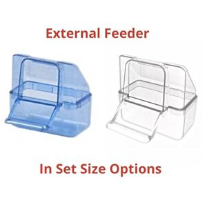 External-Bird-Cage-Feeder-Drinker-For-Finch-Canary-Budgie-etc-In-Options