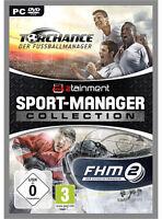 Pc Computer Spiel Torchance 2016 Der Fußball Manager + Fhm 2 Der Eishockey Man