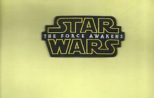 NEW 2 1/4 X 4 1/2 INCH STAR WARS THE FORCE AWAKENS IRON ON PATCH FREE SHIPPING