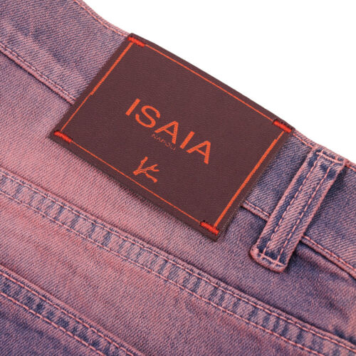 Eu 54 Blue-Pink NWT $445 ISAIA Modern-Fit Saturated Wash Denim Jeans 38
