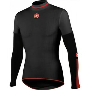 Castelli-Feroce-Windproof-Men-039-s-Winter-Cycling-Baselayer-Black-Extra-Small