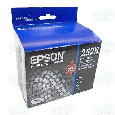 1D Genuine Lot of 2 Epson 252 Black Standard Capacity Ink T252120 12//2020