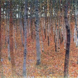 Beech-Grove-I-by-Gustav-Klimt-Handmade-Oil-Painting-Art-Reproduction-on-Canvas