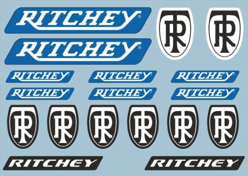 RITCHEY Bicycle Frame Decal Road Sticker Adhesive Set Vinyl Sheet 18 Pcs