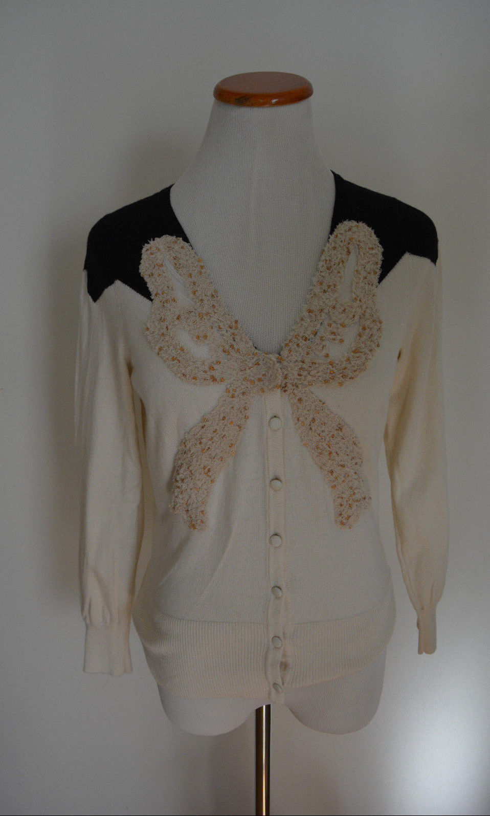 Rare Anthropologie Moth  Precious Precious Precious Materials Cardigan  Sweater Top M c17d87