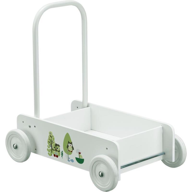 Kids Concept Lauflernwagen Eule Pumpkin mit Bremse  | Attraktiv Und Langlebig