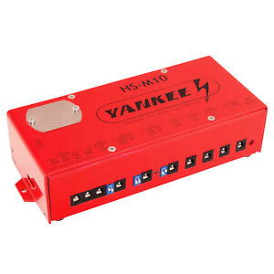 yankee hs m10 power supply 8 isolated outputs effect pedal ebay. Black Bedroom Furniture Sets. Home Design Ideas