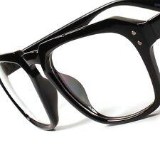 Hot Vintage Retro Fashion Hipster Nerd Mens Womens Clear Lens Black Glasses A85
