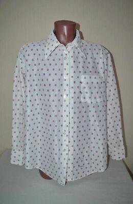 Klug Original True Vintage Man Knit Pikee Hemd Von Manhattan,gr.xxl 60 62 Top Zustand Dauerhafte Modellierung