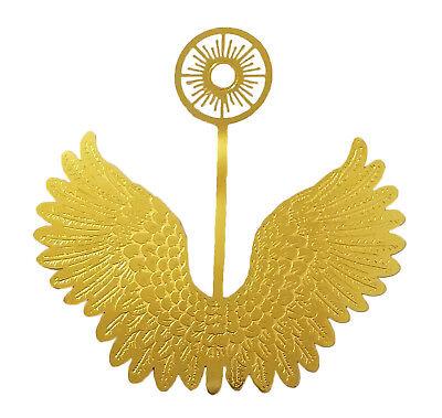 "12 Pair Miniatura 3 "" Oro Filigrana Metallo Angel Wings Halo Ornamenti"