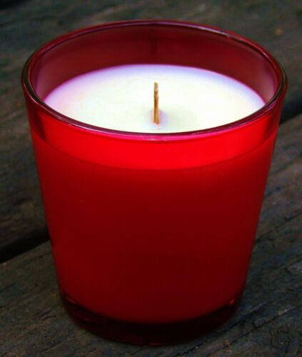 900g RED RASPBERRY /& VANILLA Scented ORGANIC SOY JAR CANDLE with Snuffer 150hr