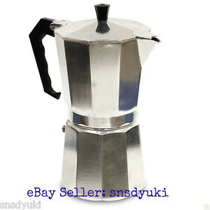 One Cup Latte Coffee Maker : ALUMINUM ESPRESSO MAKER, STOVETOP, LATTE CAPPUCCINO COFFEE POT, 1 CUP SIZE eBay