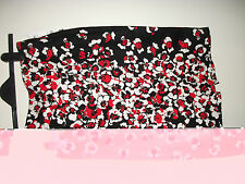 brand new with tags ladies black skirt , red and white floral pattern size 12