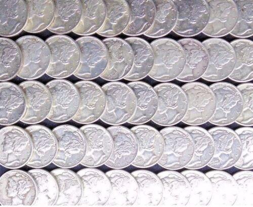 Silver Mercury Dimes ✯ VF-AU ✯ 1916-1945 ✯ 1 COIN ✯ ✯ HIGH GRADE 90/% Old U.S