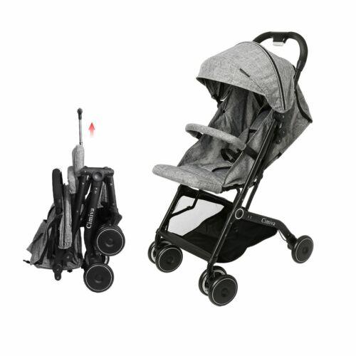 Grau Cimiva@ Kinderwagen 2in1 Alu Kombi Kinderwagen Wanne Buggy 0-25kg Black