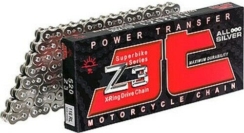 JT Drive Chains 520 x 120 Links Z3 Series Xring Sealed Natural Drive Chain 120
