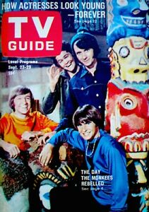 TV-Guide-1967-The-Monkees-Davy-Jones-Micky-Dolenze-Mike-Nesmith-Gene-Trind-COA
