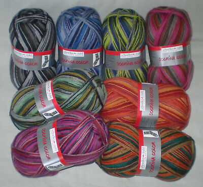 5,20€// 100gr Sockenwolle Fortissima IBIZA COLOR Schoeller 4-fach Musterbildend
