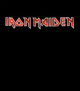 IRON-MAIDEN-cd-cvr-DISTRESSED-CLASSIC-LOGO-Official-SHIRT-MED-new