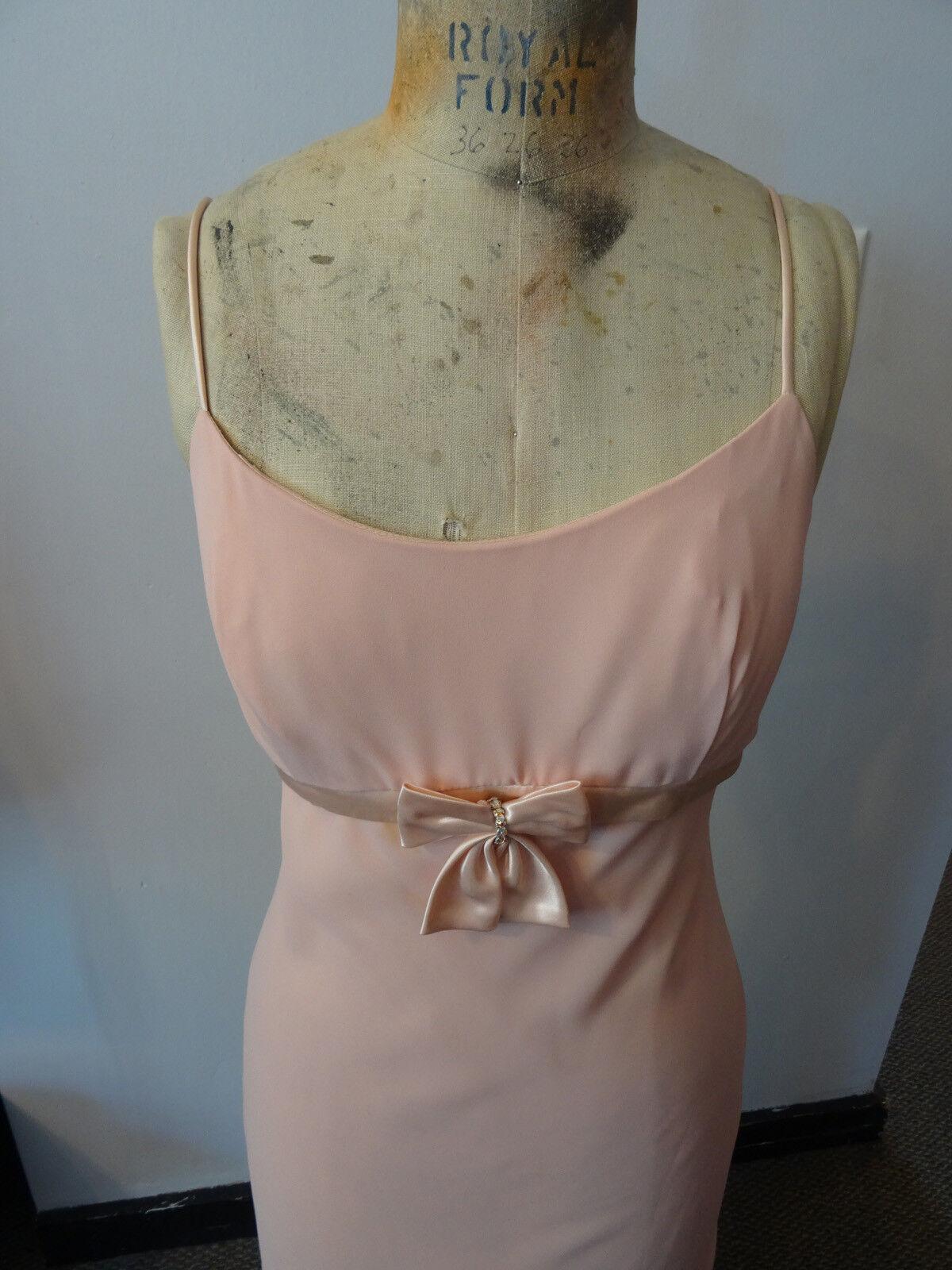 Gunne Sax Pink Formal Sleeveless Dress, Empire Wa… - image 4
