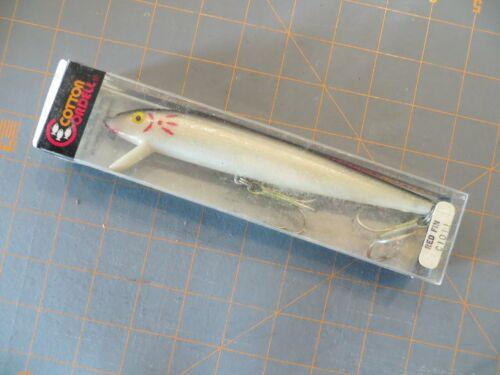 6 1//2 Pouces Vintage Comme neuf in box Cotton Cordell C10 11 rouge fin noir et blanc