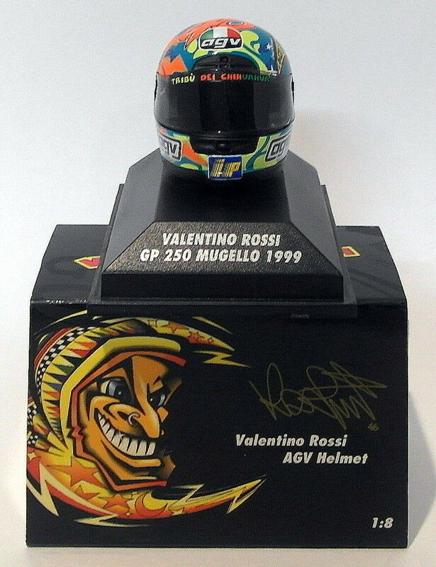 Minichamps 1 8 Scale 397 990076 - AGV Helmet GP 250 Mugello 1999 V. Rossi
