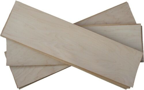 "Free Hardware /& Wax 14 Plys of Hard Rock Maple Skateboard Veneer 9.5"" X 35"""