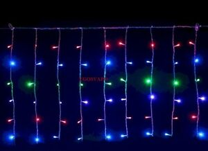 Tenda luminosa led luci natale multicolore metri cm