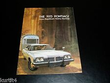 1973 Pontiac Trailer Towing Grand Prix LeMans Safari Bonneville sales brochure