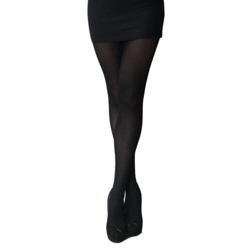 Black. 2 Pairs Essexee Legs 40 Denier Opaque Tights with Weather Sensor EL789