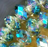 New 70pcs 5x8mm Multicolor AB Crystal Faceted Spacer Gems Loose Beads