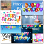 thumbnail 4 - Doodlecards Pack of 10 Standard Size Contempory Mixed Birthday Cards