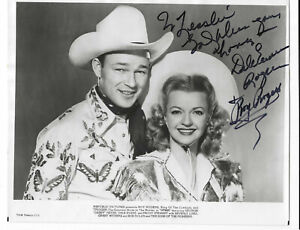 Roy Rogers and Dale Evans Signed 8x10 Photo / Autographed
