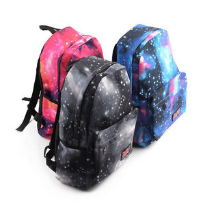 Galaxy-Pattern-Unisex-Travel-Backpack-Canvas-Leisure-Bags-School-bag-Rucksack-SM