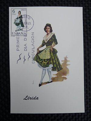 Spain Mk 1969 Costumes Spanien Trachten Maximumkarte Maximum Card Mc Cm A8672 Profitieren Sie Klein Brauchtum & Trachten Briefmarken
