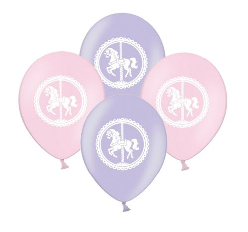 """Horse Carousel 12/"""" Merry Go Round Pink /& Lilac Asst Latex Balloons pack of 12"""