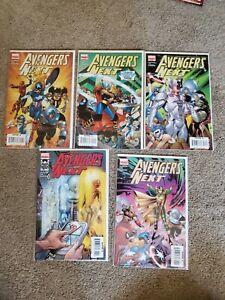Avengers-Next-1-5-Complete-Set-2007-Marvel-Full-Run-Spider-Girl-Thena