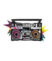 I Love The 80's Boombox Old School Totally Jammin' Music Birthday Party Balloon