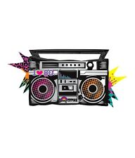 I Love the 80's BOOMBOX Old School Totally Jammin' music Birthday Party Balloon