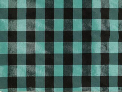 gewebt schwarz-aqua 148cm Karo Stoff